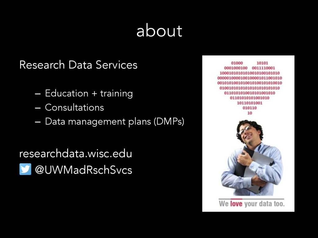 about Research Data Services –  Education + tra...