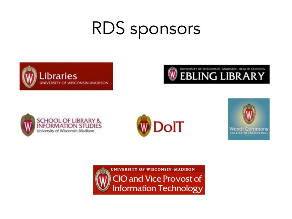 RDS sponsors
