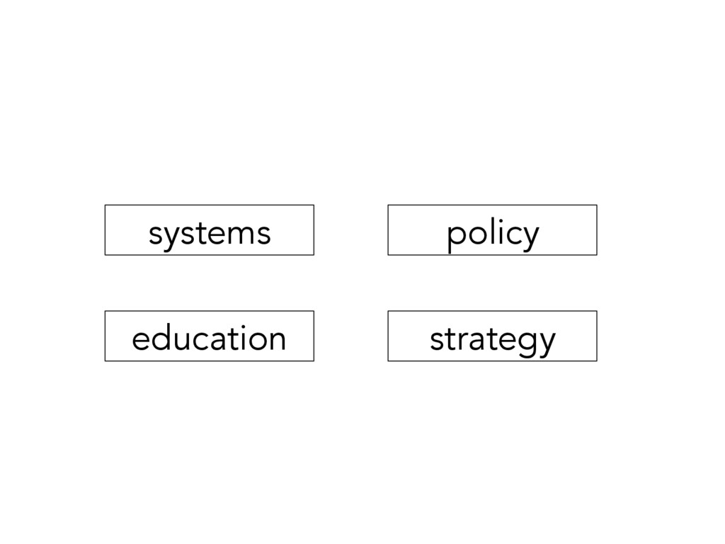 systems education strategy policy