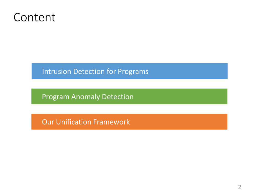 2 Content Intrusion Detection for Programs Prog...