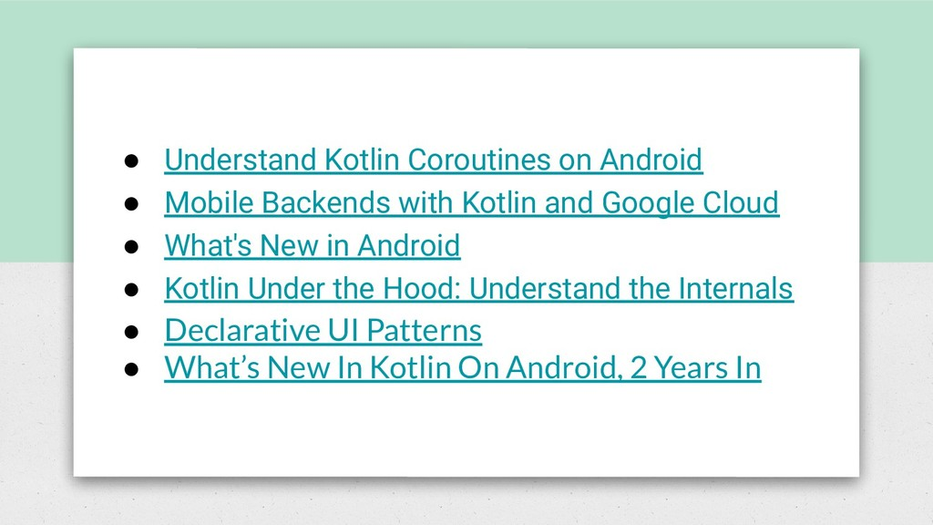 ● Understand Kotlin Coroutines on Android ● Mob...