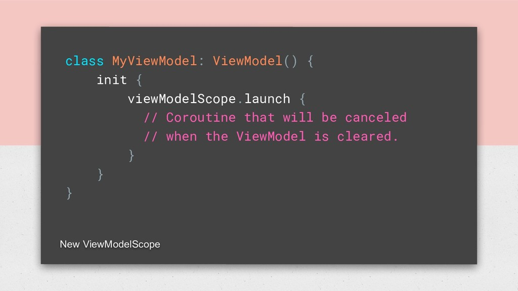 class MyViewModel: ViewModel() { init { viewMod...