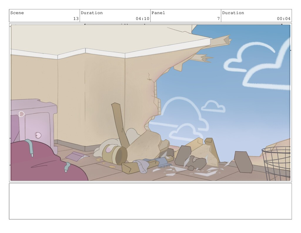 Scene 13 Duration 04:10 Panel 7 Duration 00:04