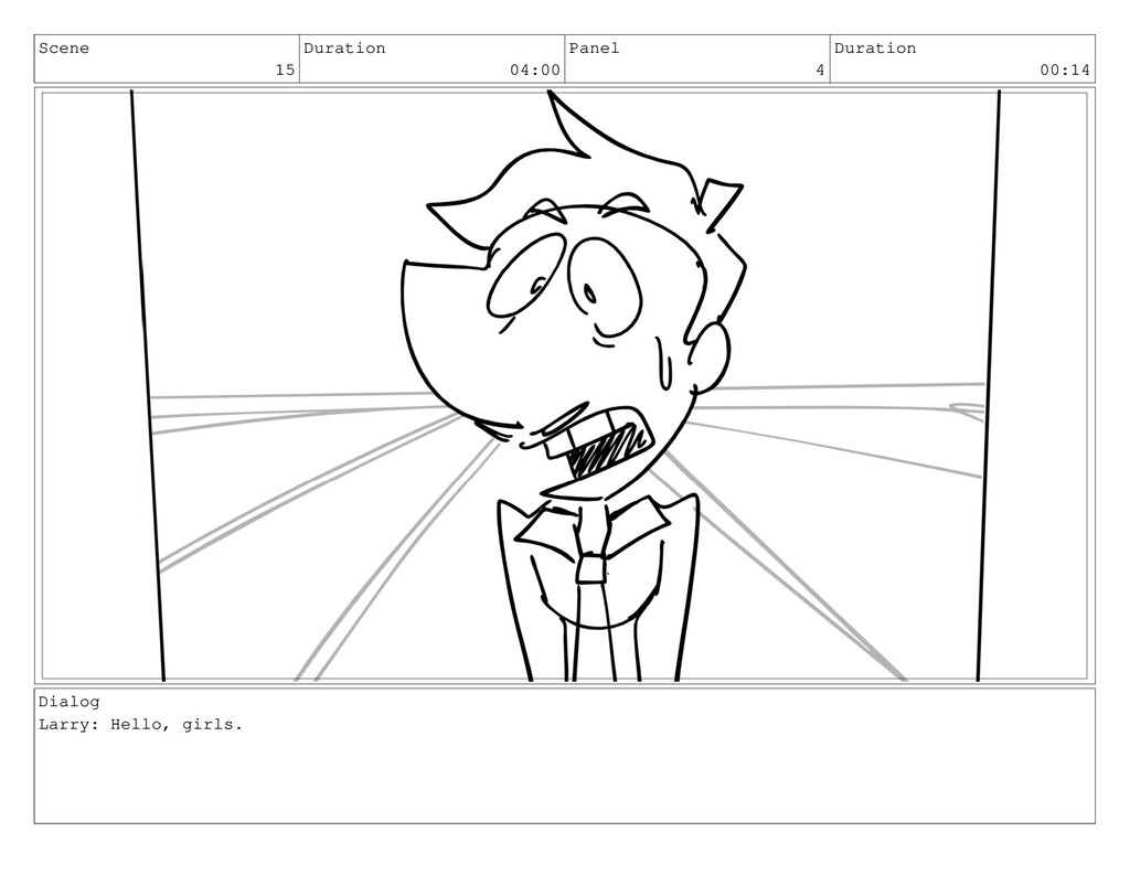 Scene 15 Duration 04:00 Panel 4 Duration 00:14 ...