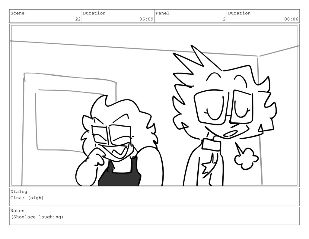 Scene 22 Duration 06:09 Panel 2 Duration 00:06 ...