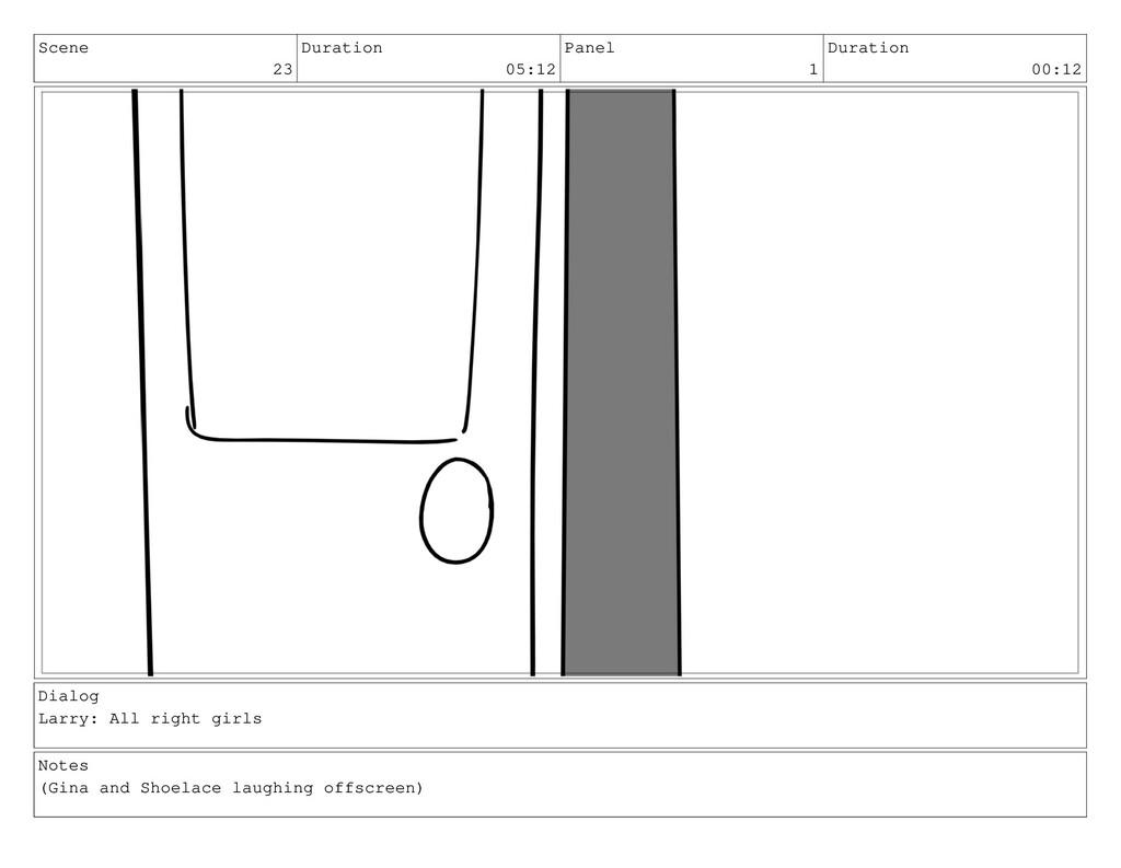 Scene 23 Duration 05:12 Panel 1 Duration 00:12 ...