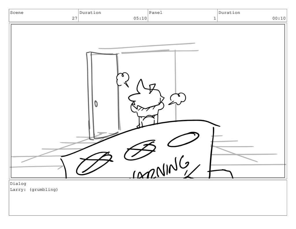 Scene 27 Duration 05:10 Panel 1 Duration 00:10 ...