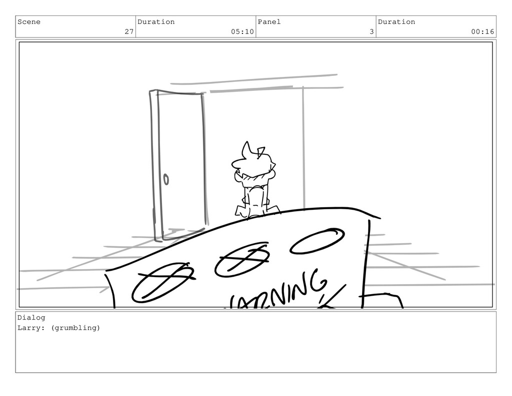 Scene 27 Duration 05:10 Panel 3 Duration 00:16 ...