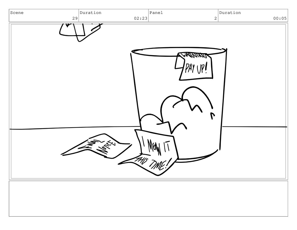 Scene 29 Duration 02:23 Panel 2 Duration 00:05