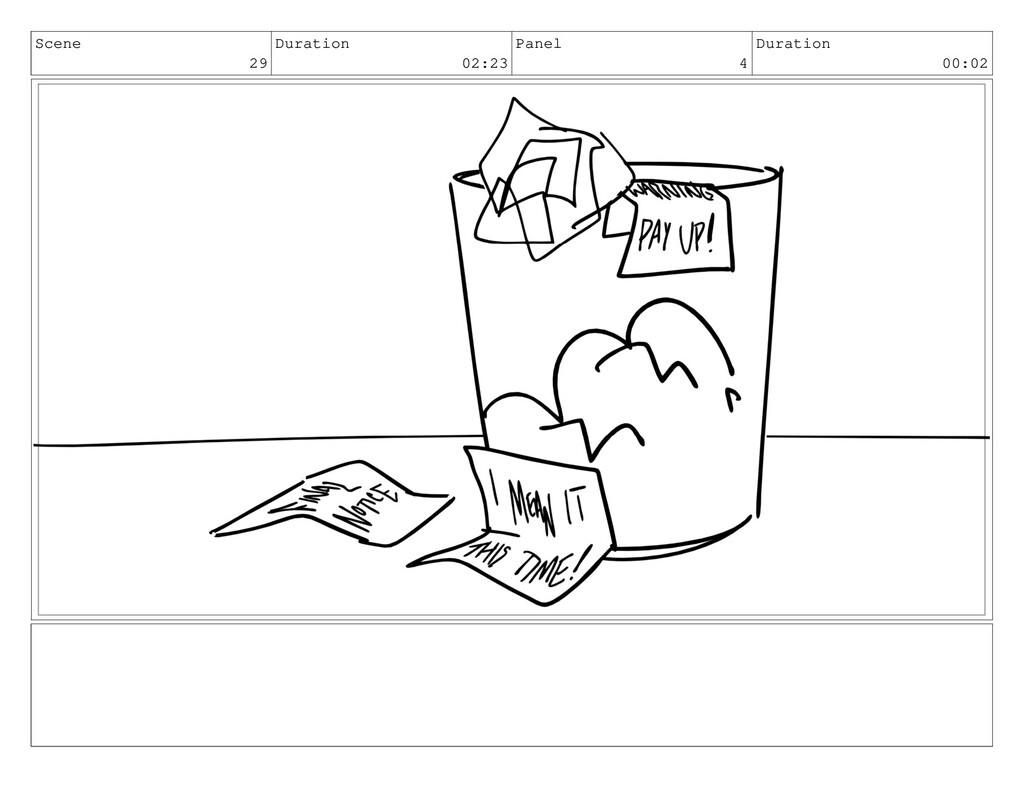 Scene 29 Duration 02:23 Panel 4 Duration 00:02