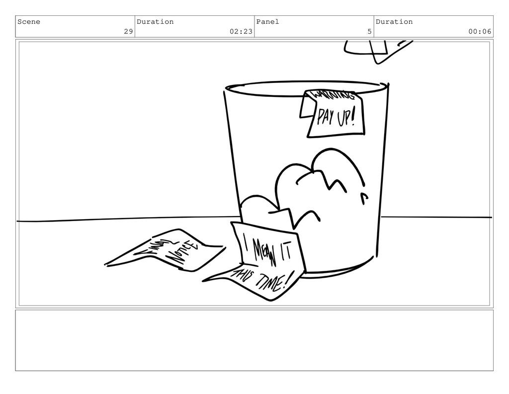 Scene 29 Duration 02:23 Panel 5 Duration 00:06