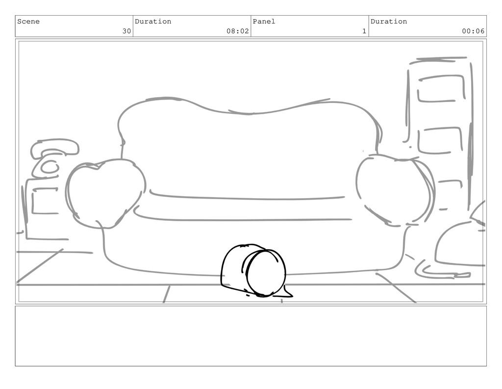 Scene 30 Duration 08:02 Panel 1 Duration 00:06