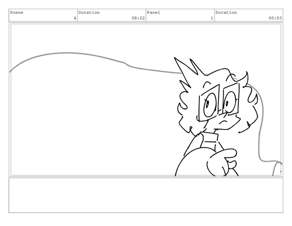 Scene 6 Duration 08:22 Panel 1 Duration 00:03