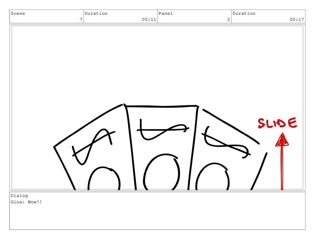 Scene 7 Duration 05:11 Panel 2 Duration 00:17 D...