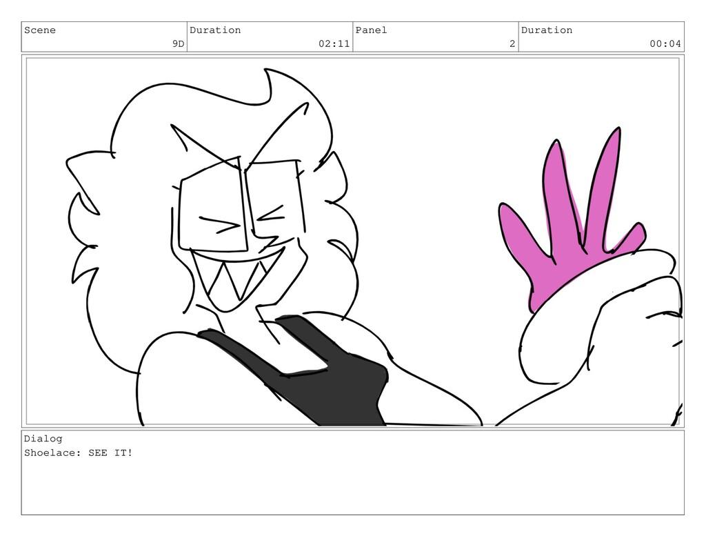 Scene 9D Duration 02:11 Panel 2 Duration 00:04 ...
