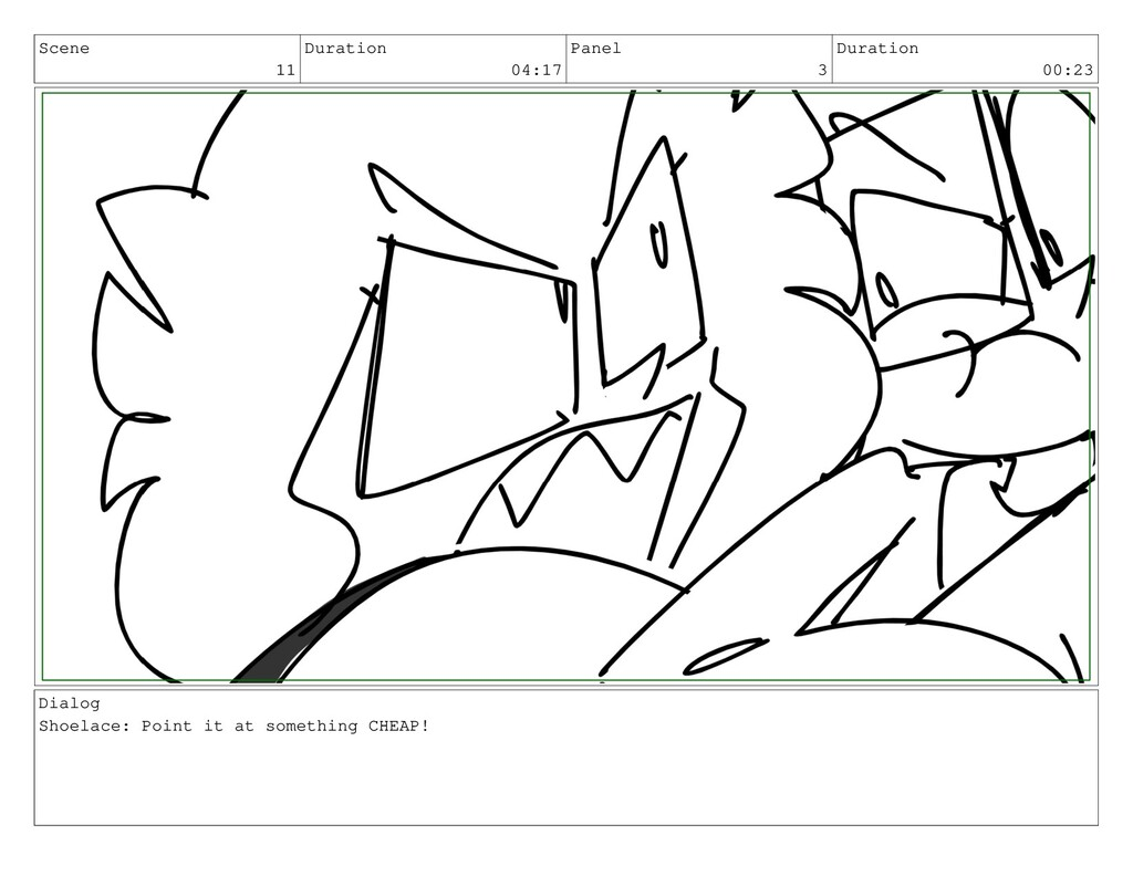 Scene 11 Duration 04:17 Panel 3 Duration 00:23 ...
