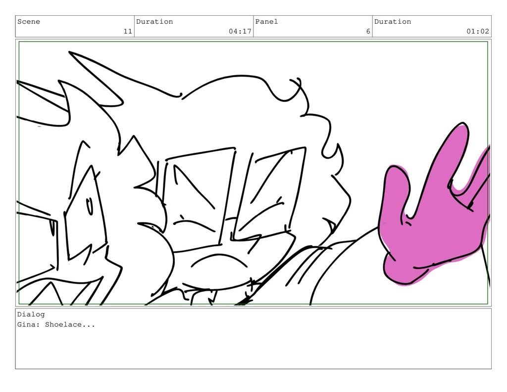 Scene 11 Duration 04:17 Panel 6 Duration 01:02 ...