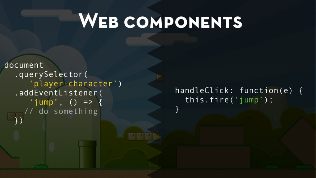 Web components document .querySelector( 'player...