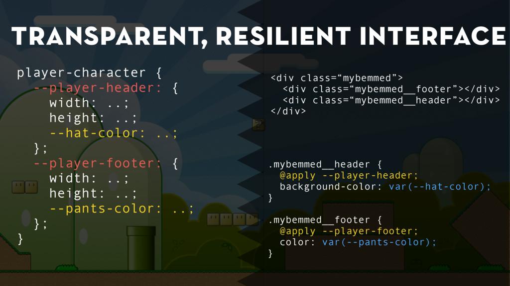 transparent, resilient interface .mybemmed__hea...