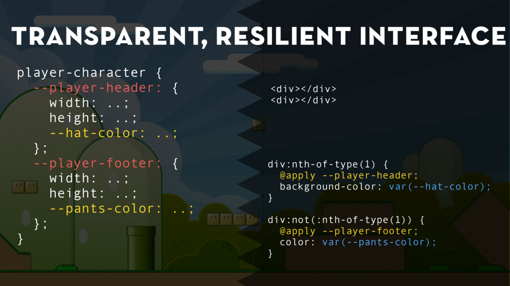 transparent, resilient interface div:nth-of-typ...