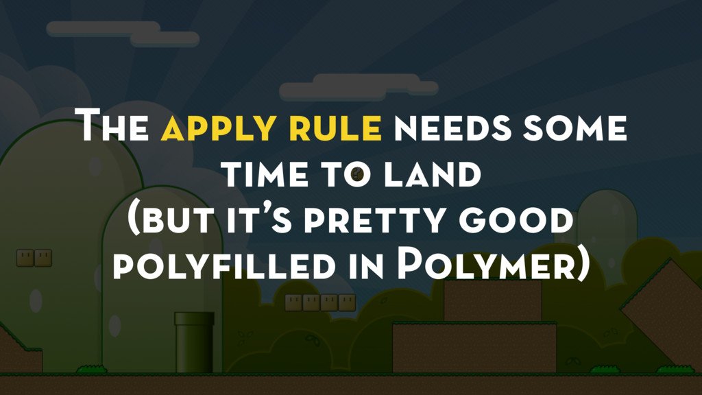 The apply rule needs some time to land (but it'...
