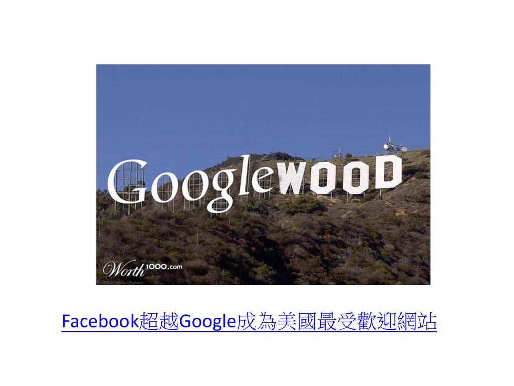 Facebook超越Google成為美國最受歡迎網站