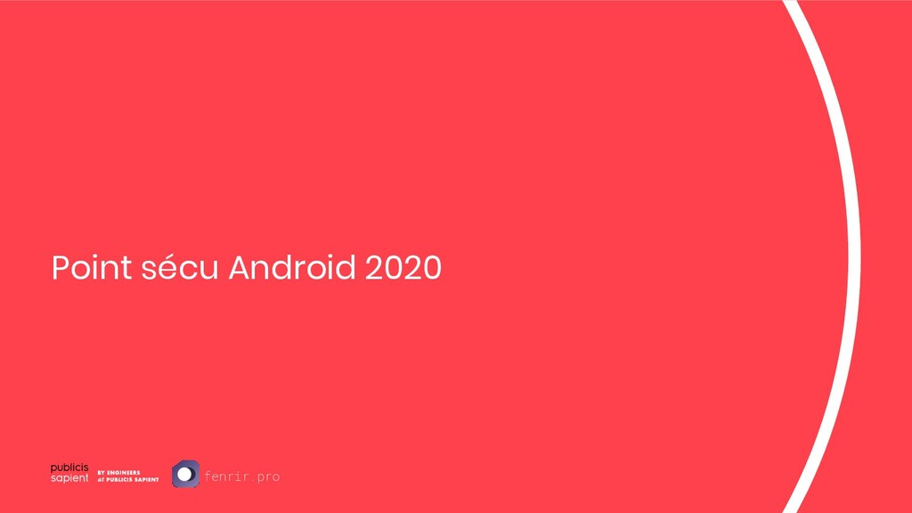 Point sécu Android 2020 fenrir.pro