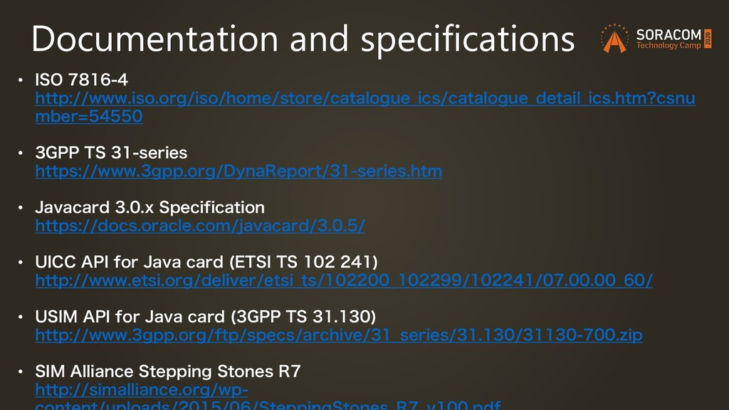 Documentation and specifications • *40 I...