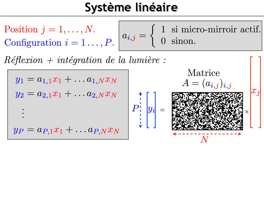 Système linéaire