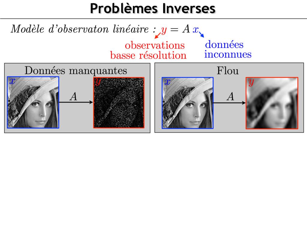Problèmes Inverses