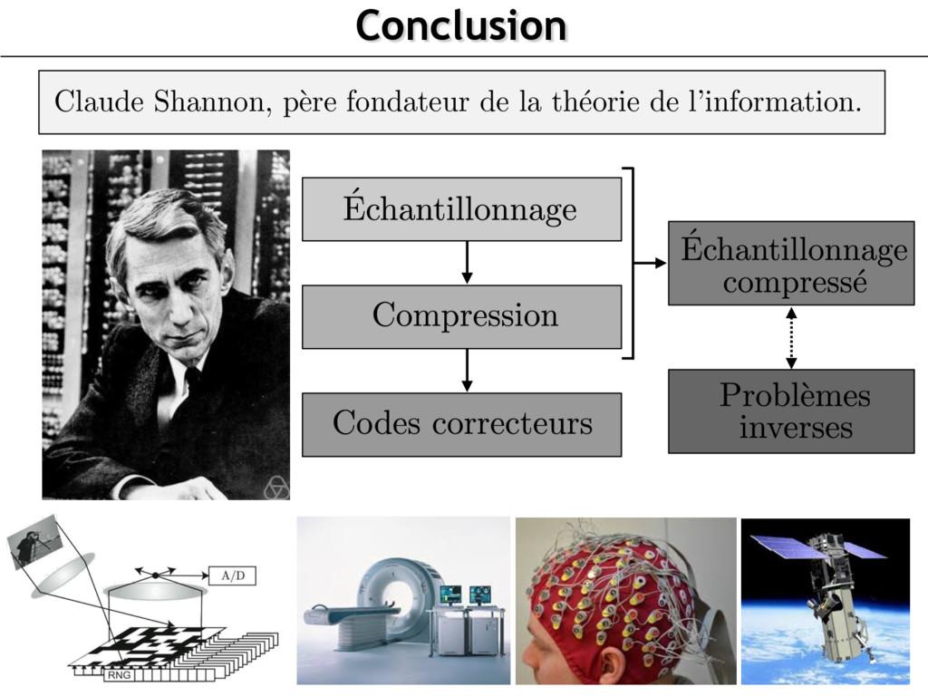 Conclusion Claude Shannon, p` ere fondateur de ...