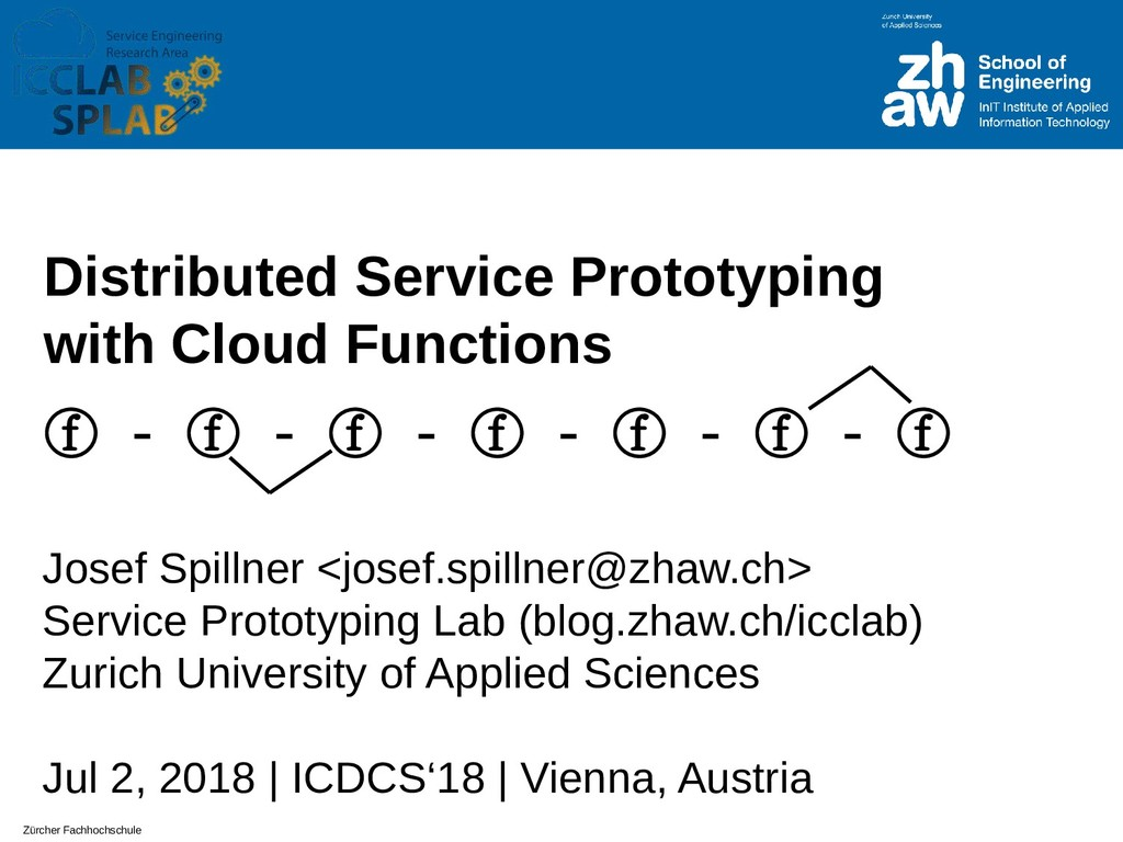 Zürcher Fachhochschule Distributed Service Prot...