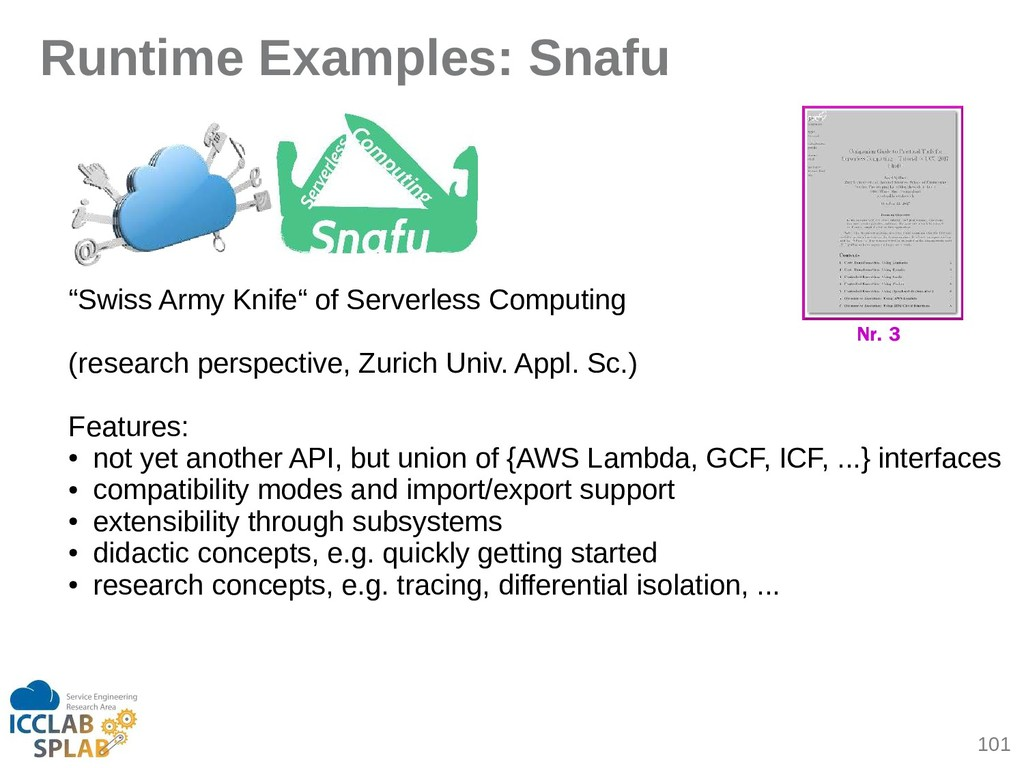 "101 Runtime Examples: Snafu ""Swiss Army Knife"" ..."