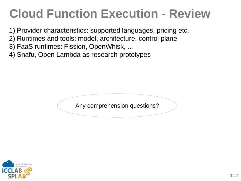 112 Cloud Function Execution - Review 1) Provid...