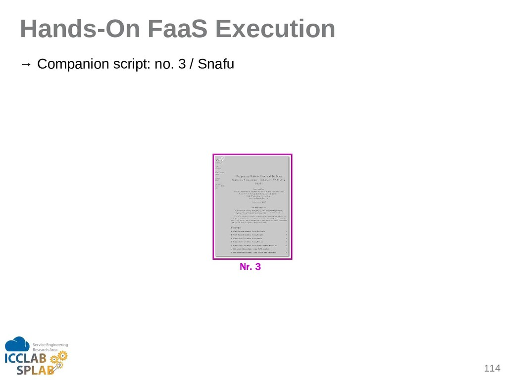 114 Hands-On FaaS Execution → Compinion script:...