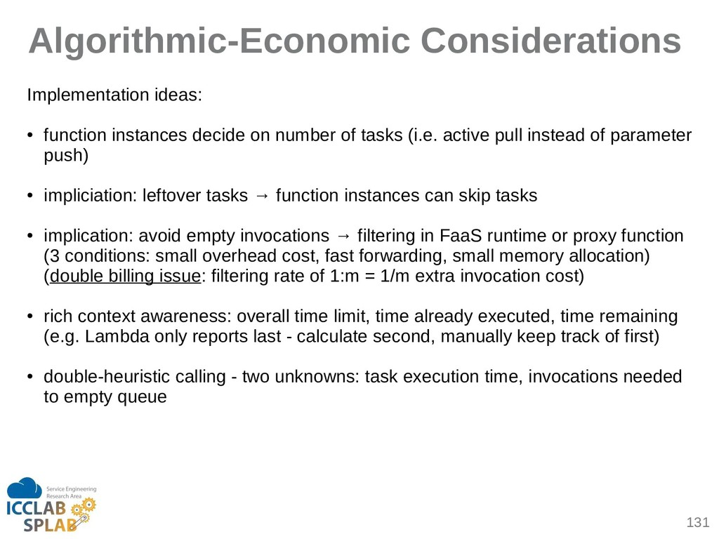 131 Algorithmic-Economic Considerations Impleme...