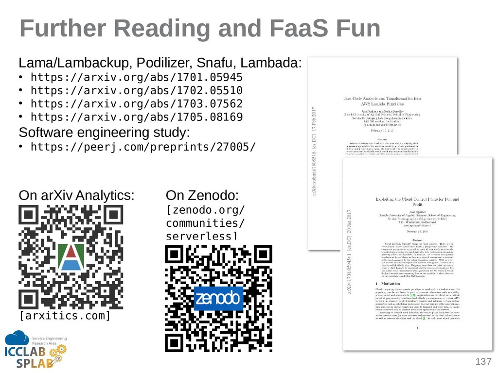 137 Further Reading and FaaS Fun Limi/Limbickup...