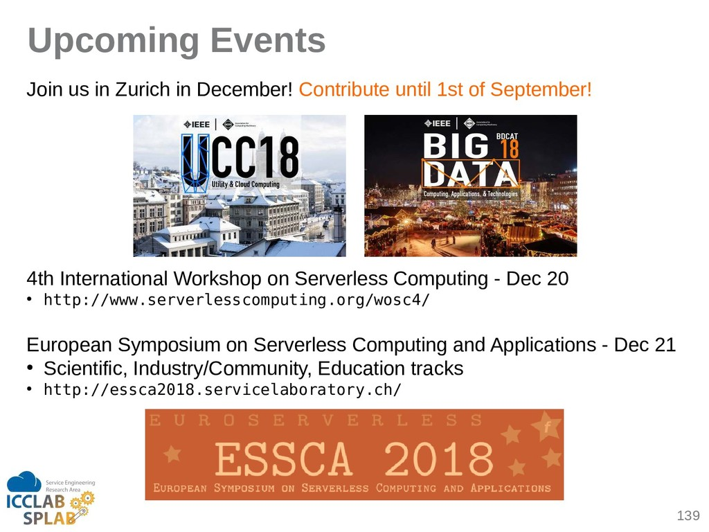 139 Upcoming Events Join us in Zurich in Decemb...