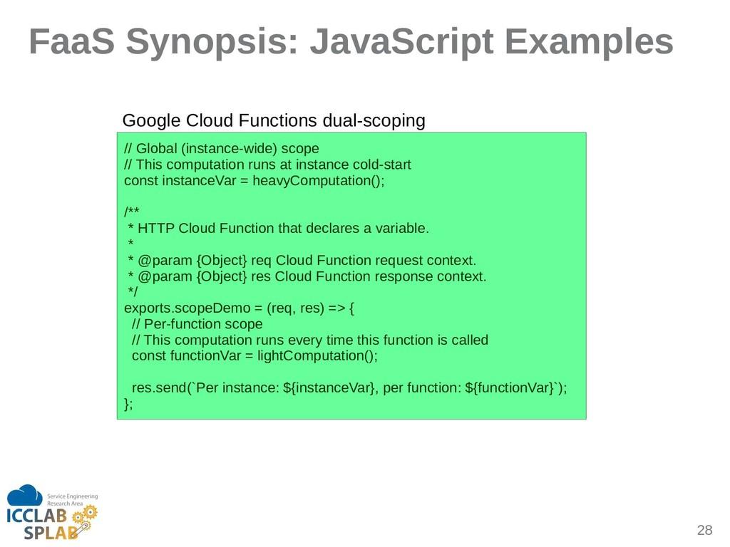28 FaaS Synopsis: JavaScript Examples // Globil...