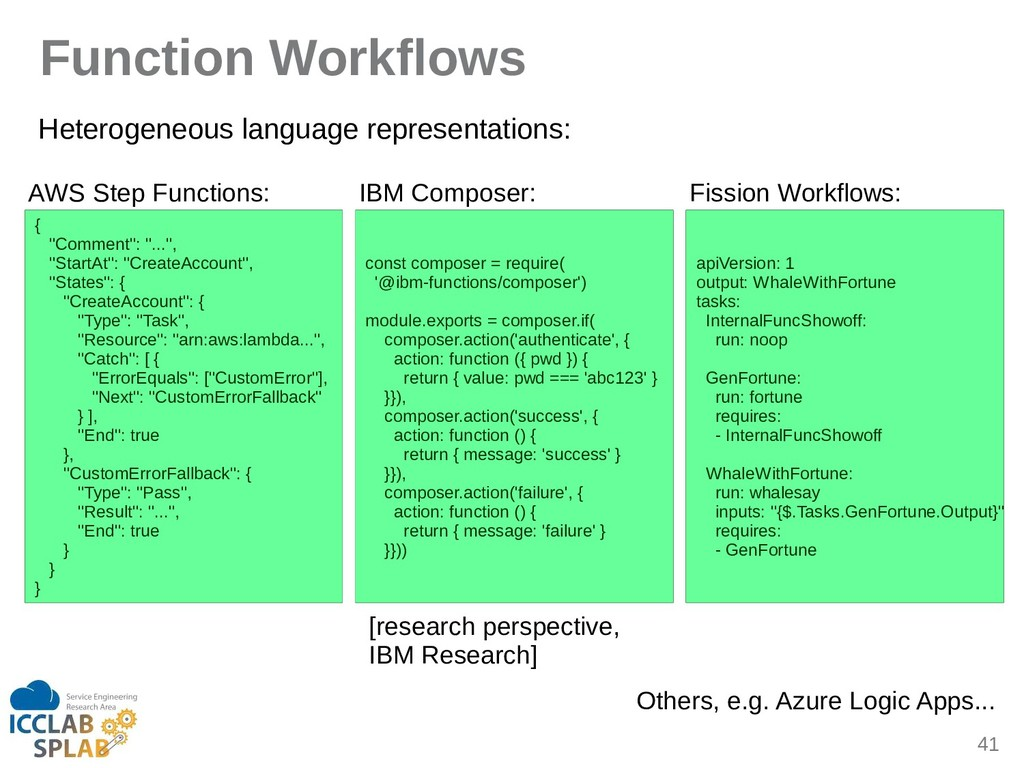 41 Function gorkflows Heterogeneous linguige re...