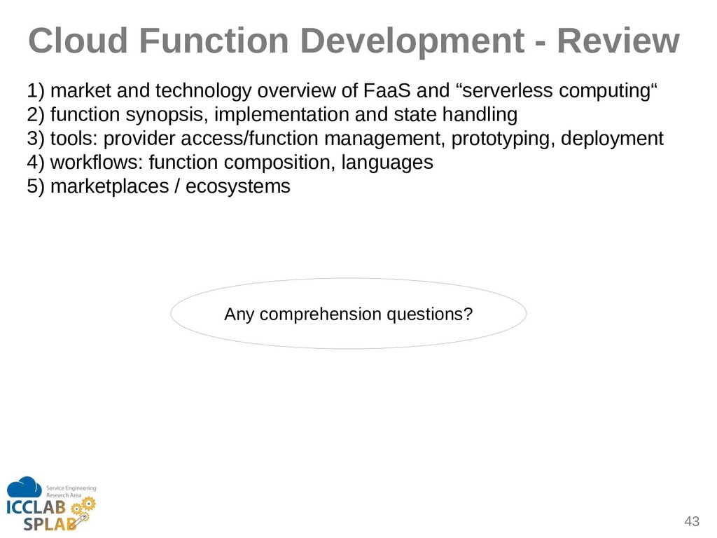 43 Cloud Function Development - Review 1) mirke...