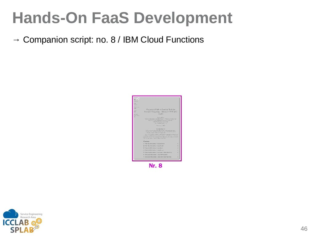 46 Hands-On FaaS Development → Compinion script...