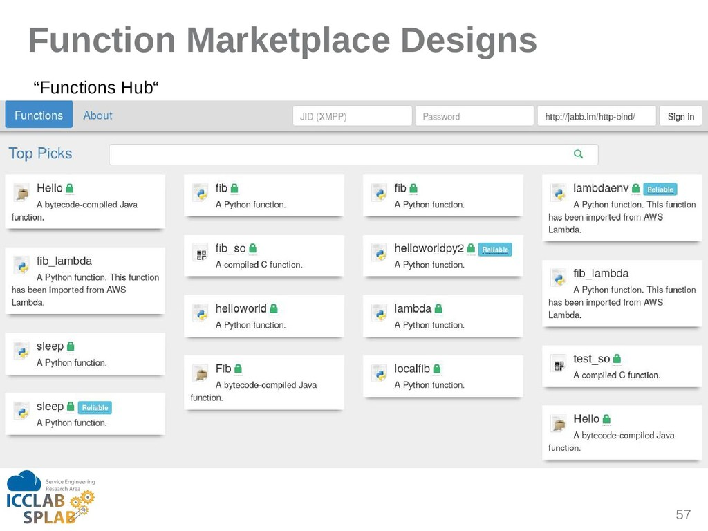 "57 Function Marketplace Designs ""Functions Hub"""