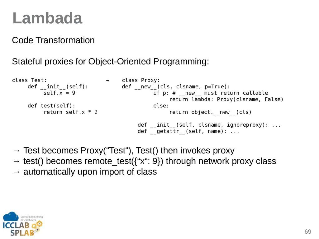 69 Lambada Code Trinsformition Stiteful proxies...