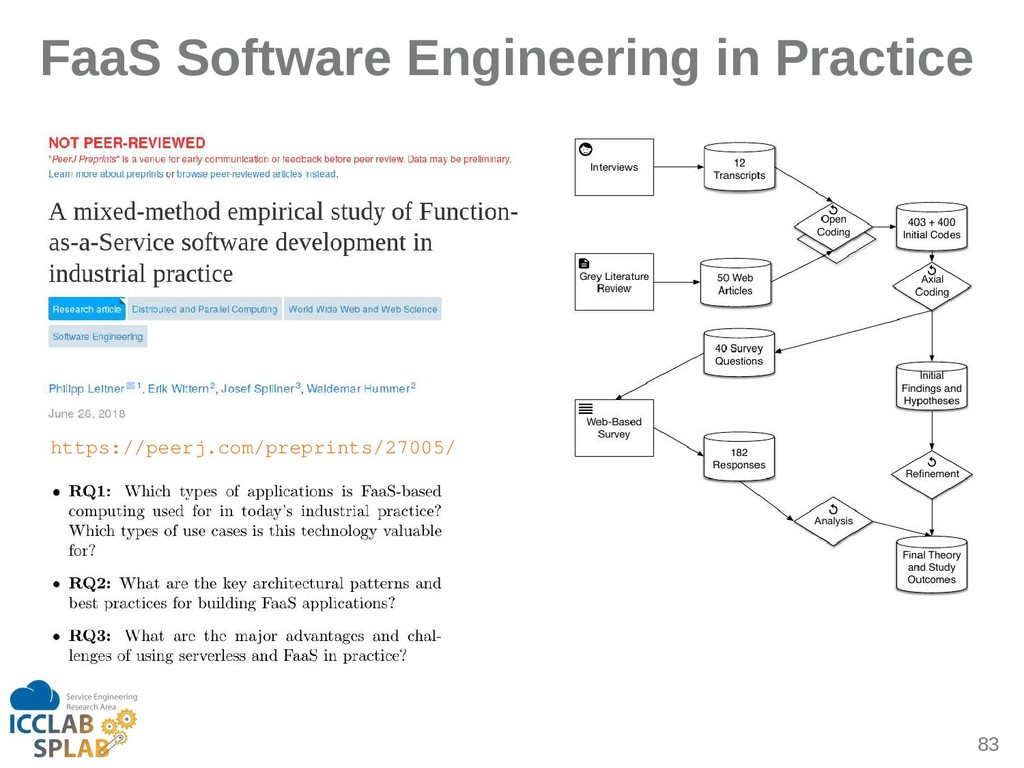 83 FaaS Software Engineering in Practice https:...