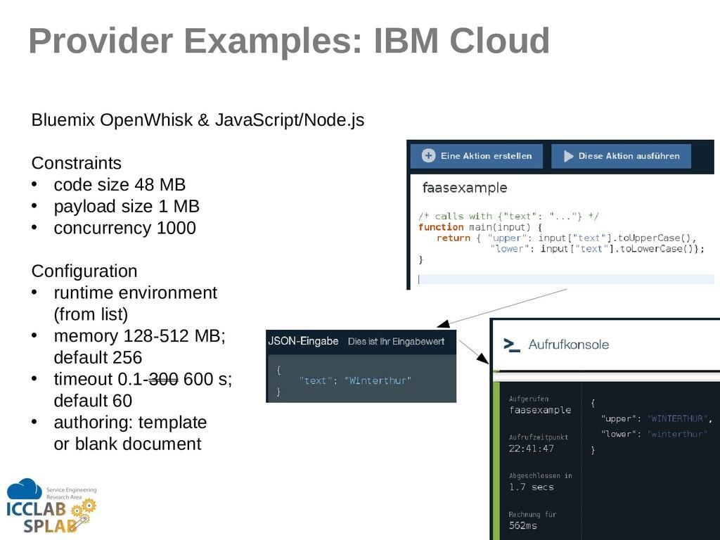 92 Provider Examples: IBM Cloud Bluemix OpenWhi...