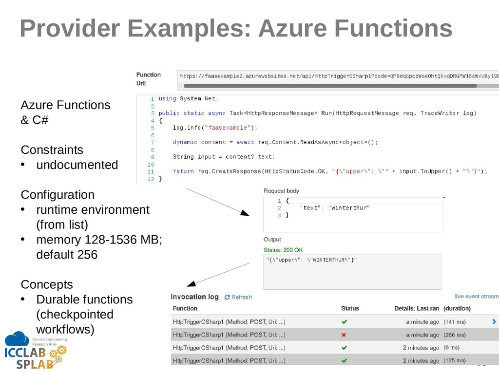 93 Provider Examples: Azure Functions Azure Fun...