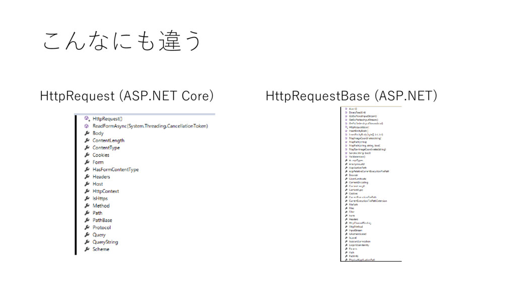 こんなにも違う HttpRequest (ASP.NET Core) HttpRequestB...