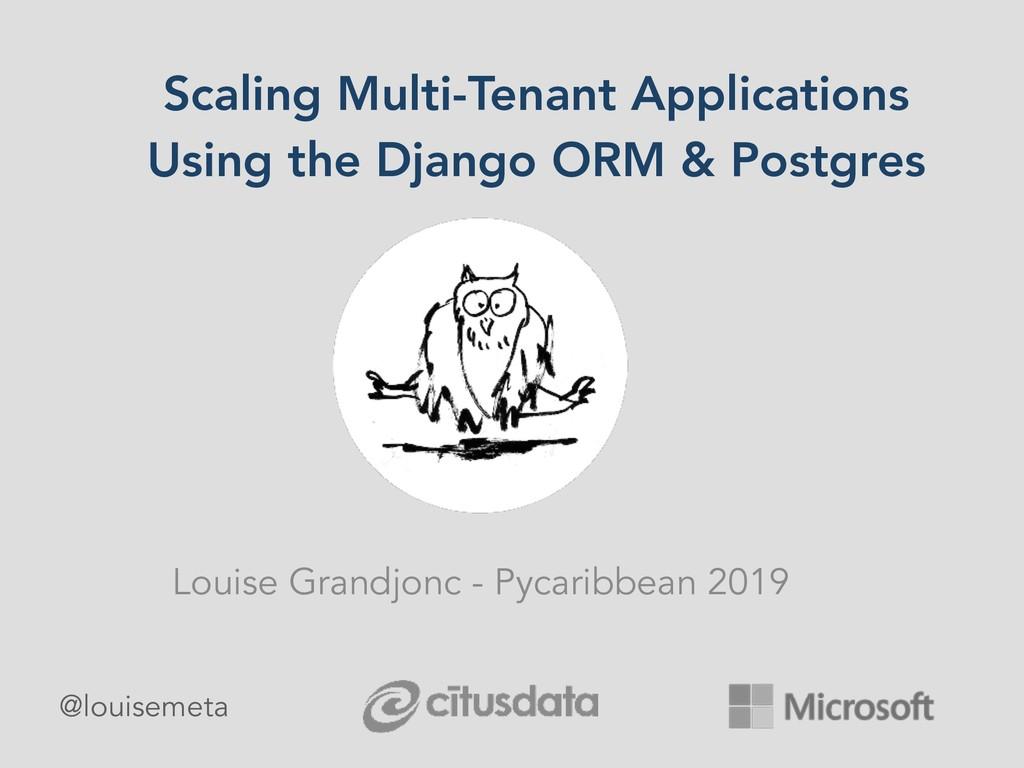 Scaling Multi-Tenant Applications Using the Dja...
