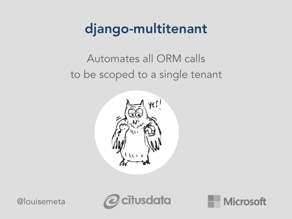 django-multitenant Automates all ORM calls to b...